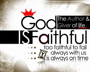 God is faithful - HD