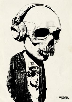 Bobblehead_Skull___Headphones_by_hiddenmoves